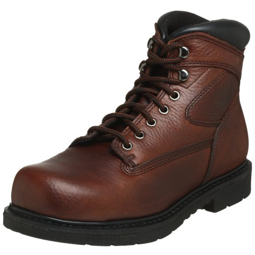 worx by red wing shoes mens 5525 oblique toe steel toe 6
