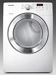 Samsung DV365ETBG 7.3 Cu. Ft. Capacity Electric Dryer with Steam Wrinkle Away and 7 Drying Program, Neat White