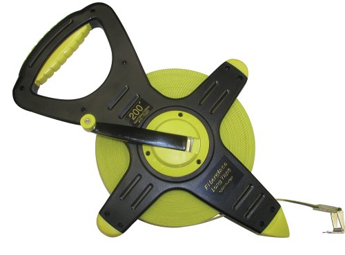 CST/berger 74-Y2001 200ft Fiberglass Zip-Line, Pro-Series Open Reel Tape in FEET/10THS