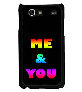 Colourful Me & You 2D Hard Polycarbonate Designer Back Case Cover for Samsung I9070 Galaxy S Advance :: Samsung Galaxy S II Lite