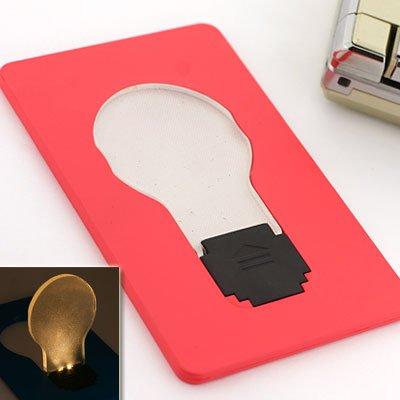 LEDでパッ!と明る~い電球型カード::DOULEX::(ショッキングピンク)LED Light Bulb Pocket Card