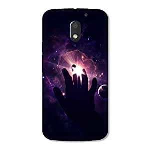 OVERSHADOW DESIGNER PRINTED BACK CASE COVER for MOTO E3 POWER