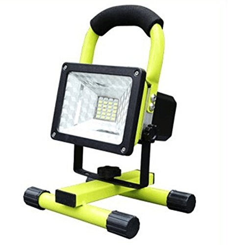 soled 15W 24LED Waterproof Spotlights Work Lights Outdoor Camping Lights, Built-in Rechargeable Lithium Batteries & USB Ports to charge Mobile Devices,Green