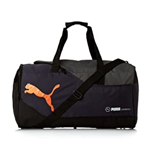 PUMA Schultertasche Fundamentals Sports Bag M, New Navy-Golden Poppy, 58 x 31 x 31 cm, 071964 05