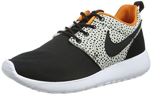 Nike Roshe One Safari (Gs), Scarpe da Ginnastica Bambini e Ragazzi, Nero (Black/Black/Clay Orange/Summit White), 39 EU