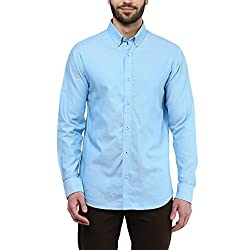 F Factor by Pantaloons Men's Shirt 205000005567681_Sky Blue_44