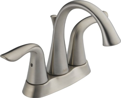 Delta 25938LF-SS Lahara Two Handle Centerset Lavatory Faucet, Stainless (Delta Kitchen Faucet Three Hole compare prices)