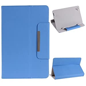 """NSSTAR Universal Textured Faux Leather Folio Stand Flip Protection Guard Case Cover with Magnetic Closure for 9"""" inch Android Tablet PC (Blue) by NSSTAR"""