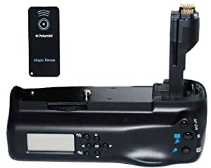 Polaroid Wireless LCD Display Performance Battery Grip For Canon Eos 7D Digital Slr Camera - Remote Shutter Release Included