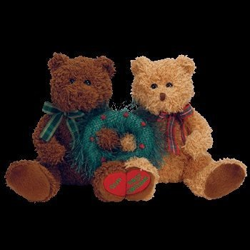 TY Beanie Babies - MERRY KISS-MAS the Holiday Bears (set of 2)