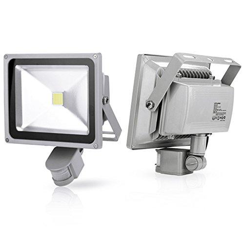 Generic 2Pcs 30W Cool White Led Induction Lamp Pir Motion Sensor Ip65 Outdoor Floodlight 85-265V