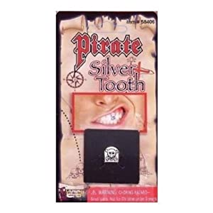 Silver Pirate Costume Tooth