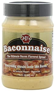 J&D Baconnaise Regular Mayonnaise, Bacon, 15 Ounce