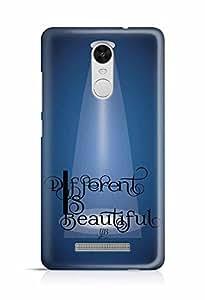 YuBingo Different is Beautiful Designer Mobile Case Back Cover for Xiaomi Redmi Note 3