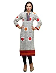 Cotton Printed With Neck Work Kurti