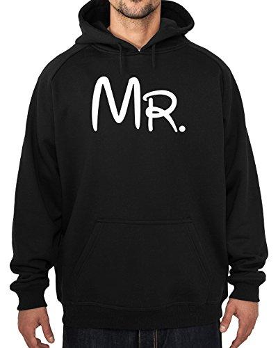"""'Mr'-Felpa con cappuccio da uomo, colore: nero, misure: S-XXL, Stampato professionalmente a Acen Studios, ideale per compleanni, anniversari o per la festa del papà, figlio, fratello, scritta """"Dad"""", idea regalo, nero, medium"""