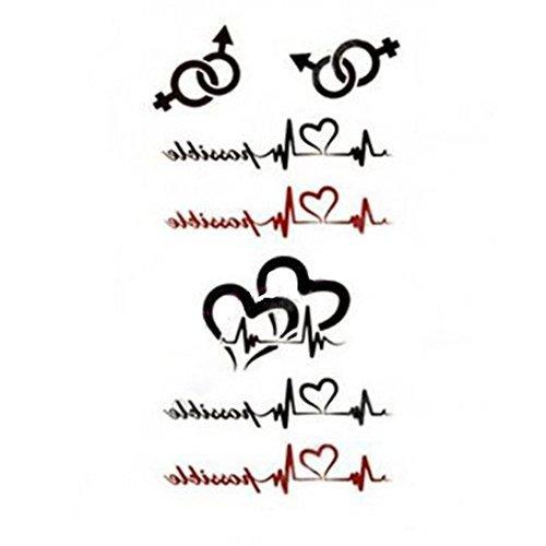 generique-1-pc-tatouage-temporaire-impermeable-electrocardiogrammes-coeurs