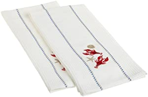 DII Anchors Away Embroidered Dishtowels, Lobsters, Set of 2 at Sears.com
