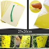 25x20cm Yellow Insect Sticky Trap Whiteflies Aphids Thrips Garden Pest Control Tool