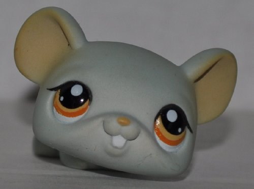 Mouse #988 (Blue, Orange Eyes) - Littlest Pet Shop (Retired) Collector Toy - LPS Collectible Replacement Figure - Loose (OOP Out of Package & Print) - 1