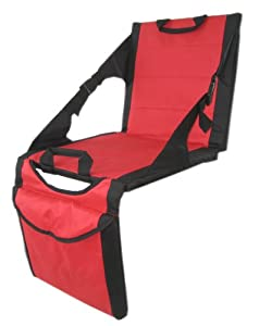 PolarHeat Heated and Cooled Soft Shell Stadium Seat with Two Coolers (Red)