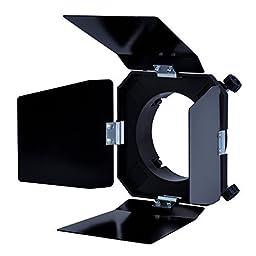Neewer Black Four Leaf Barn Door Barndoor for Photography Studio Flash Light