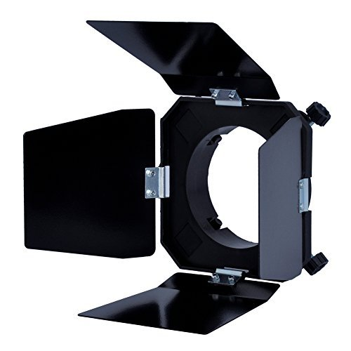 Neewer  Black Barn quatre feuilles porte coupe-flux pour Flash de Studio Bowens fixation de lampe