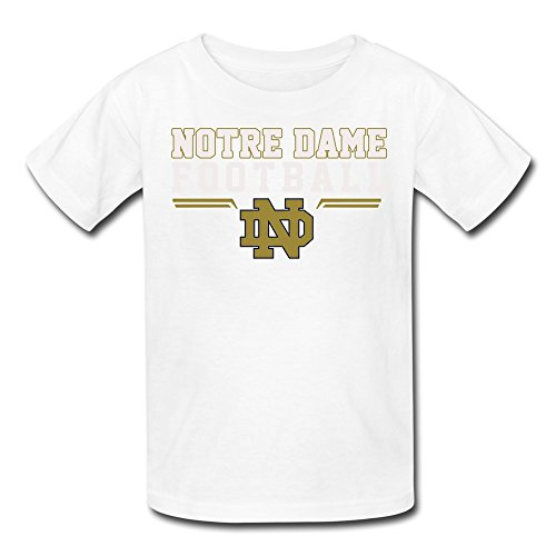 FUDI Youth's University Of Notre Under Armour Notre Dame Fighting Irish Logo Tshirt S White