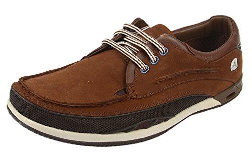 Clarks Orson Lace 20353239, Scarpe da regata uomo, colore Marrone (Dark Brown Lea), taglia 44 EU (9.5 UK)
