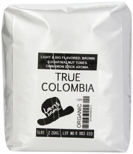 Larry's Beans Fair Trade Organic Coffee, Frenchy French, Whole Bean, 5-Pound Bag