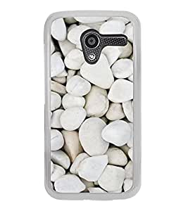 Beautiful White Stones 2D Hard Polycarbonate Designer Back Case Cover for Motorola Moto X :: Motorola Moto XT1052 XT1058 XT1053 XT1056 XT1060 XT1055