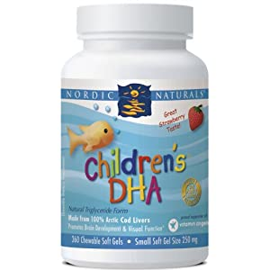 Childrens DHA 250 mg Strawberry Flavor By Nordic Naturals