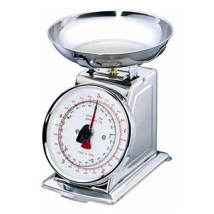 Table&cook - ksd/5kg - Balance de cuisine mécanique 5kg - 20g inox RETRO