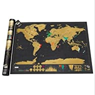 Deluxe World Scratch Map – Sophistica…