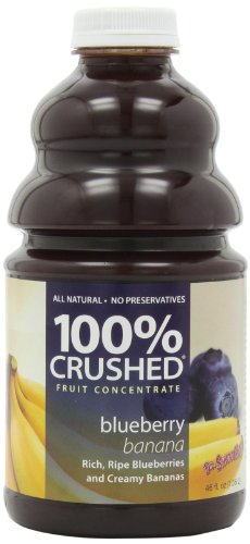 Dr. Smoothie 100% Crushed Fruit Smoothie, Blueberry Banana, 46-Ounce Bottles (Pack of 2)