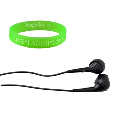Black 3 Ft 7 Inch Earbuds For Nokia Lumia 920 With Clear Sound Clarity + Wristband