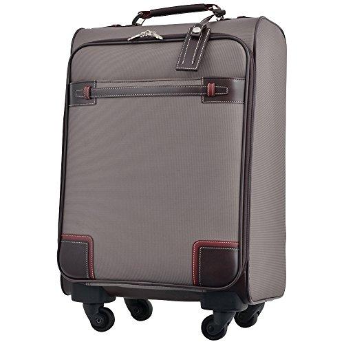 キャリーケース ピジョール サジェスTR スーツケース TSA南京錠 機内持ち込み PUJOLS ソフトタイプ 4輪 26L 1日 2日用 46cm 51277 (ブラウン)