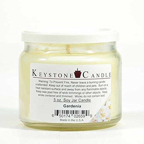 5 oz Gardenia Soy Jar Candles