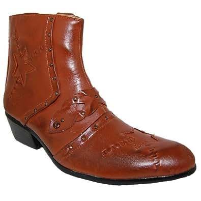 shoe artists studd 2 inch cuban heel ankle