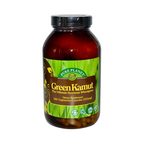 Pure Planet Green Kamut Wheatgrass - 240 Vegetarian Capsules