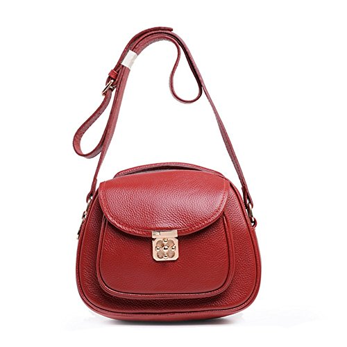 BagVenus New Arrivals Soft Cow Leather Polychrome Zipper Lady Cross-Body Shoulder Bags