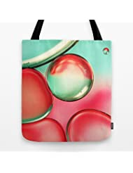Society6 - Oil Drops In Blush & Blue Tote Bag by Sharon Johnstone Coupon 2015