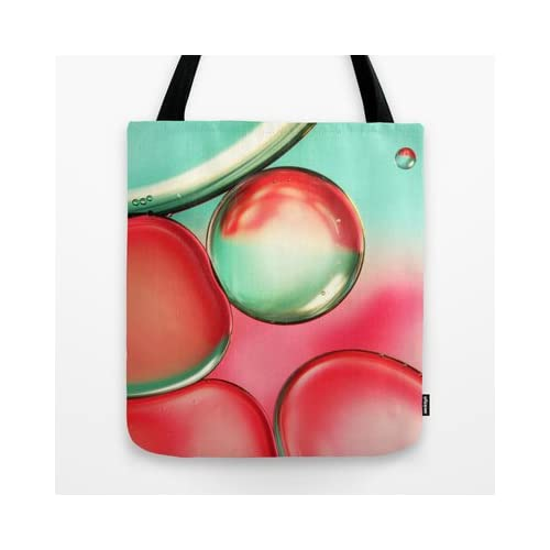 Society6 - Oil Drops In Blush & Blue Tote Bag by Sharon Johnstone coupons 2015