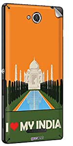 GsmKart SXC Mobile Skin for Sony Xperia C (Orange, Xperia C-845)