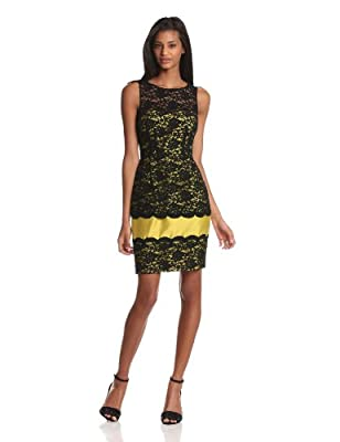 Taylor Dresses Women's Allover Lace Sheath from Taylor