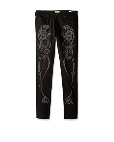 Versace Jeans Men's Beaded Slim Fit Jeans