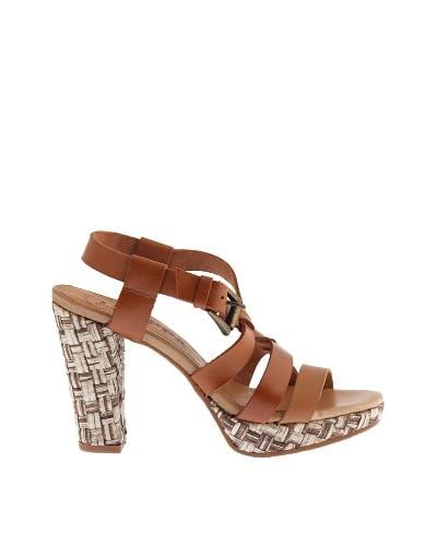 Troppa Sandalo Tacco Intrecciato [Marrone]
