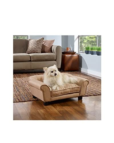 Enchanted Home Pet Sydney Tufted Pet Sofa, Beige