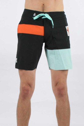 Volcom - Mens Kid Creature Boardshorts, Size: 38, Color: Black