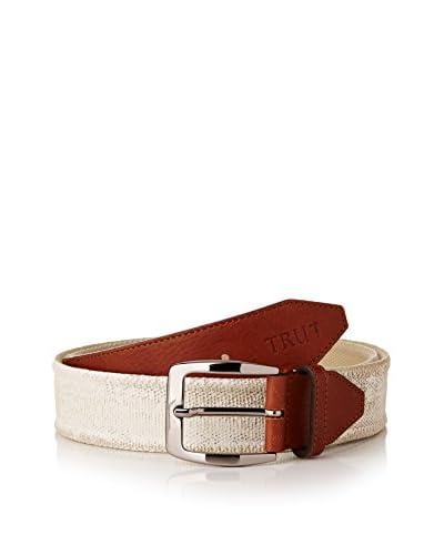 Trussardi Jeans Cinturón Marfil / Cuero